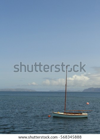 Sailboat on the Anglesey Coast