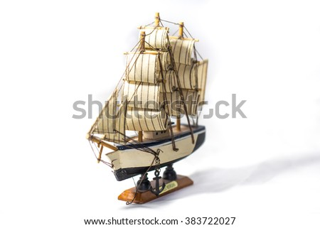 Sailboat, white background.