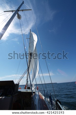 Sailboat with Sails Unfurled