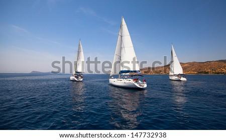 Sailboat. Yachting. - stock photo