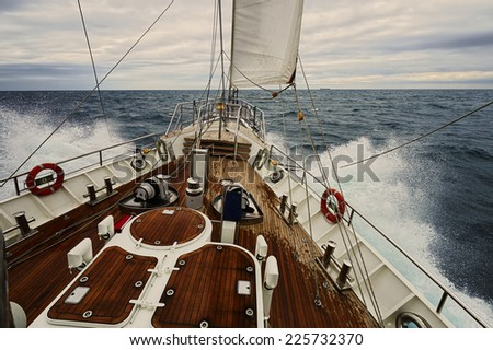 Sailboat. Yachts and Ships - stock photo