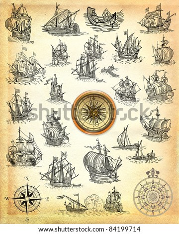 Sailboats illustration