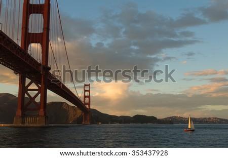 Sailing Away - stock photo