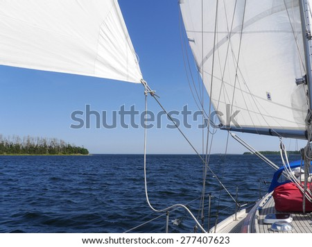 sailing boat at the swedish east coast