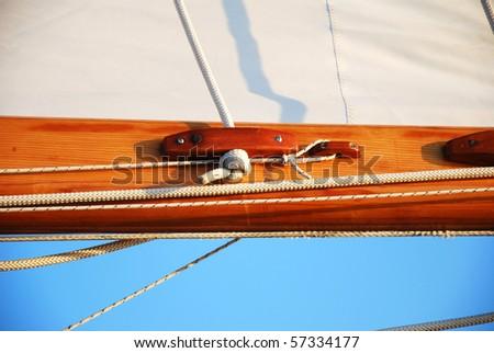 sailing boat detail - stock photo