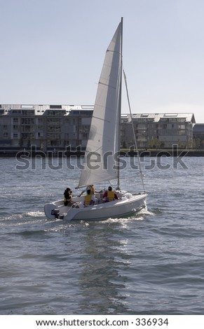 Sailing Boat on Sydney Harbour