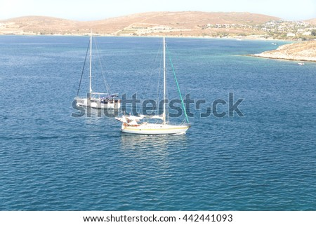 sailing boats in Paros island Greece