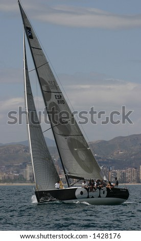 Sailing in the Mediterranean sea