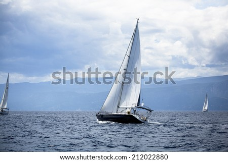 Sailing in the wind through the waves.