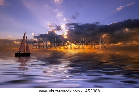 Sailing on a beautiful night