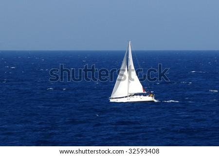 Sailing on Sea - stock photo