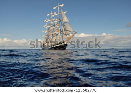 Sailing ship - stock photo
