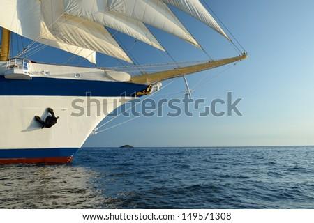 Sailing  ship. - stock photo