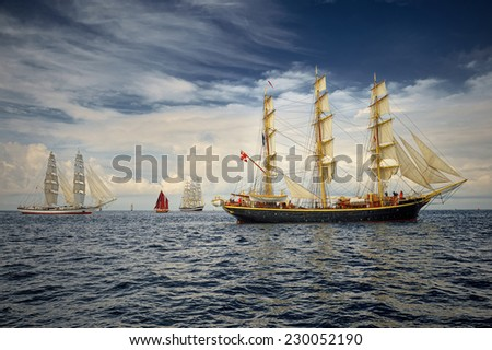 Sailing ship. Series of best sailing ships of the world - stock photo