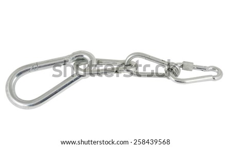 sailing ship steel turnbuckle - stock photo