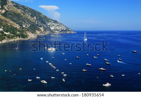 Sailing ships on the Mediteranean Sea, Europe - stock photo