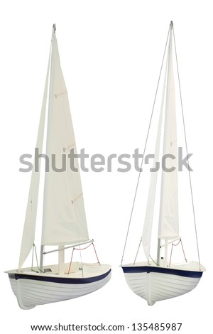 sailing ships under the white background