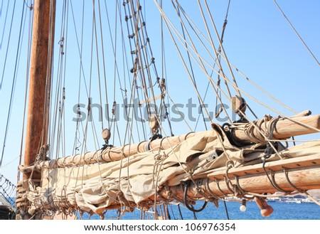 Sailing tackles - stock photo