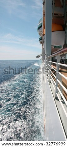 Sailing with a cruise ship