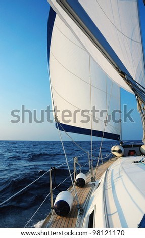 Sailing with wind - stock photo