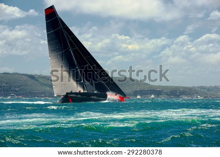Sailing yacht. Collection of sailing - stock photo