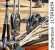 sailing yacht detail - stock photo