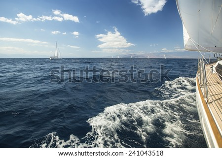 Sailing. Yachting. Tourism. Luxury Lifestyle. - stock photo
