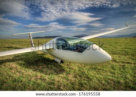 sailplane - stock photo