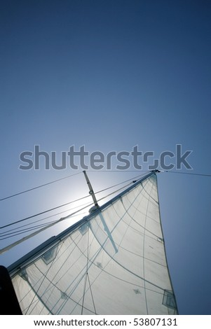 Sails in the sun - stock photo