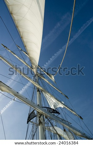 Sails on a sailboat
