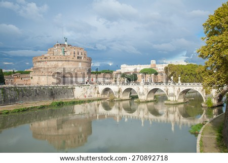 Saint Angelo Castle, Rome Italy - stock photo
