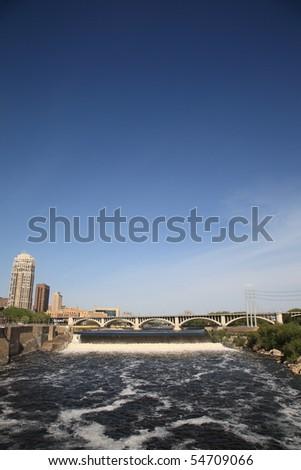 Saint Anthony Falls - Minneapolis - stock photo