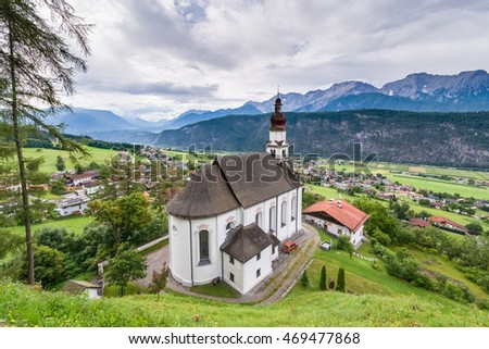 Saint Anthony of Padua church in Rietz, Sonnenplateau, western Innsbruck, Austria