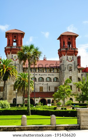 saint augustine city hall on a sunny day - stock photo
