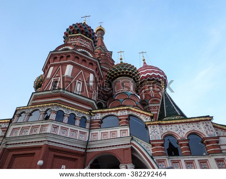 Saint Basil Cathedral in the Red Square, Moscow