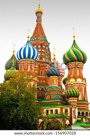 Saint Basil`s cathedral - stock photo