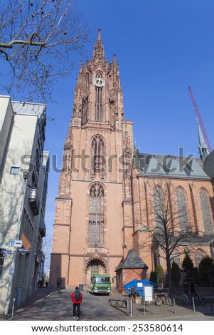Saint Catharine's church in Frankfurt, Germany - stock photo