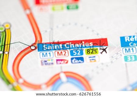 Saint Charles Station Marseille Metro Map Stock Photo 626761556