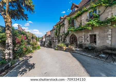 Saint-Cirq-Lapopie, member of the Les Plus Beaux Villages de France (The most beautiful villages of France) association in Lot, south-western France.