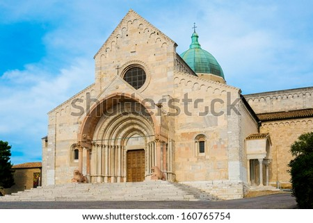 Saint cyriacus cathedral in Ancona, Italy - stock photo