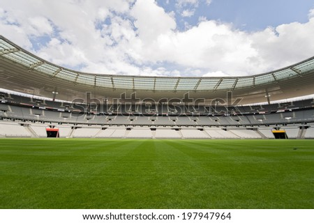 SAINT-DENIS, FRANCE - JUNE 4, 2014 - View of Stade de France, the most popular sport stadium in France near Paris