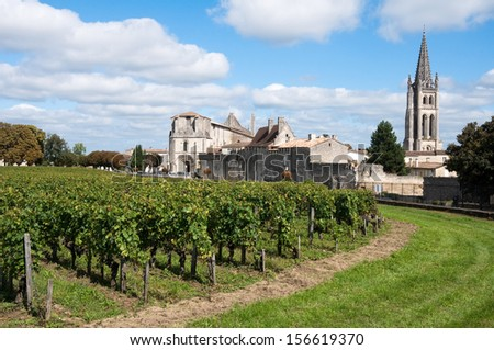 Saint-Emilion, a UNESCO World Heritage Site, France - stock photo