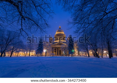 Saint Isaac's Cathedral in St.Petersburg, Russia - stock photo
