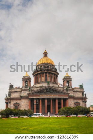 Saint Isaac's Cathedral (Isaakievskiy Sobor) in Saint Petersburg, Russia in the morning