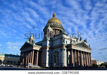 Saint Isaac's Cathedral. Saint - Petersburg. Russia.