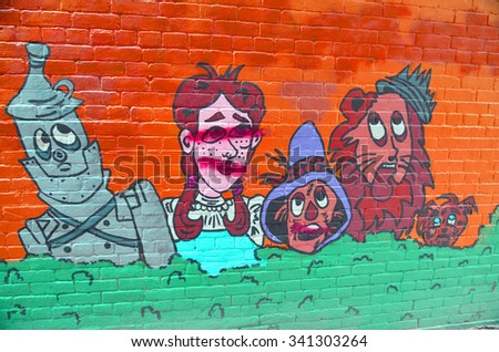 SAINT JOHNu0027S NEWFOUNDLAND AND LABRADOR JUNE 12: Mural Wizard Of Oz At Saint  Johnu0027s On