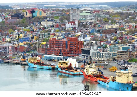 SAINT JOHN'S NEWFOUNDLAND JUNE 12: St. John's was incorporated as a city in 1921, yet is considered the oldest English-founded city in North America  On june 12 2014 in Saint John's Newfoundland