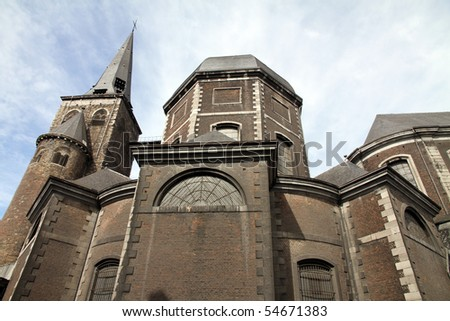 Saint John the Evangelist collegiate  church in Liege city Wallonia Belgium
