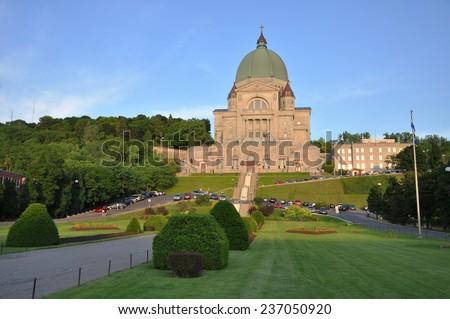 Saint Joseph Oratory (French: Oratoire Saint-Joseph) in Montreal, Quebec, Canada - stock photo