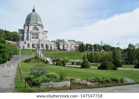 Saint Joseph's Oratory of Mount Royal,Montreal, Quebec, Canada - stock photo